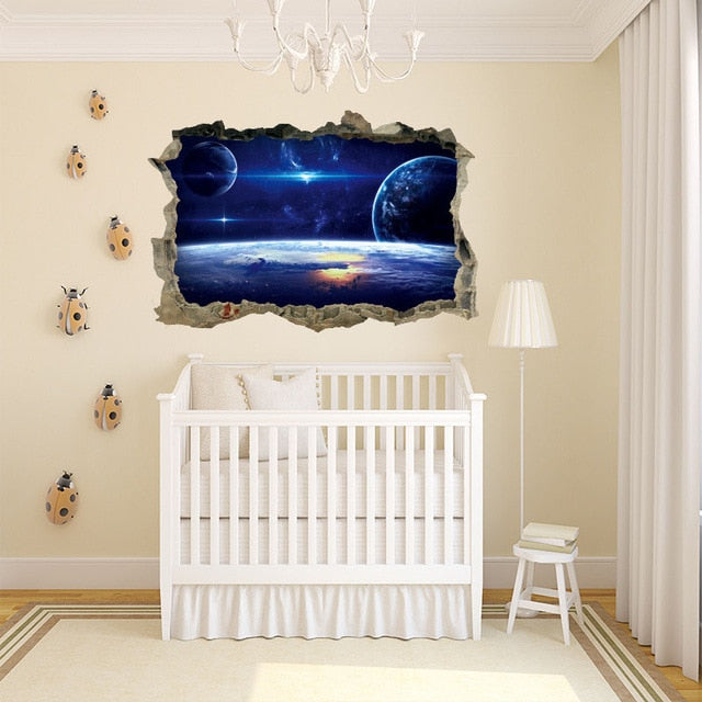 Outer Space Galaxy Wall Art