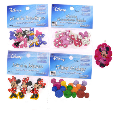 Dress It Up Disney Minnie Mouse Button Embellishment Assortment