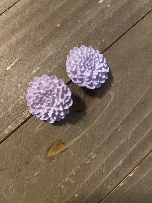 Purple and Pink Flower Post Earrings (8 different ones to choose from)