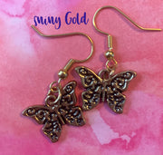 BUTTERFLY WIRE EARRINGS