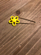 Yellow Flower Gold Pin