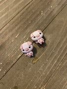 Pig Pen post earrings Earrings (2 different poses to choose)