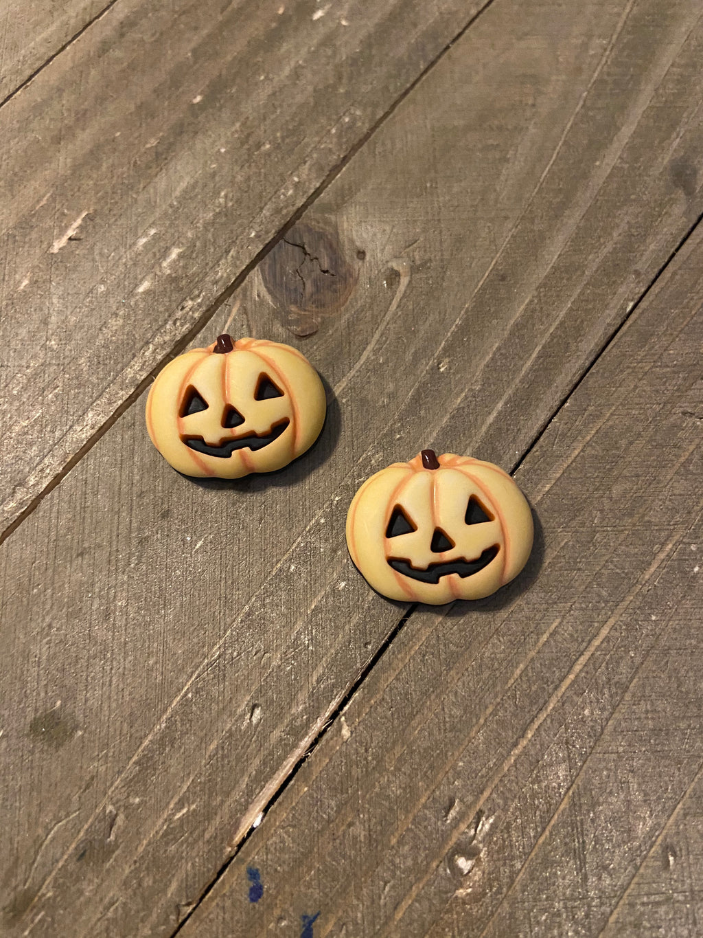 Not so Scary Pumpkin Post Earrings-Perfect for Fall Ear Bling