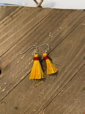 Tassel dangling Earrings (6 colors to choose)