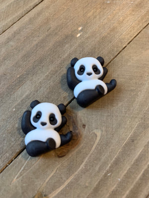 Panda Bear Post Earrings