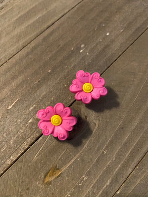 Flower Post Earrings (6 colors to choose from)