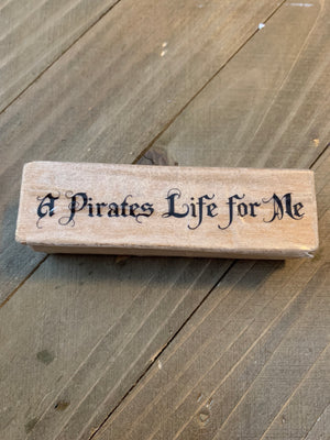 PIRATE COLLECTION 4 Rubber Stamps (A Pirate's Life for Me--Garage Sale--
