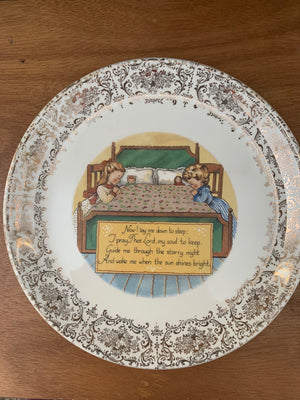 NOW I LAY ME DOWN TO SLEEP Collector Plate -- Vintage 10