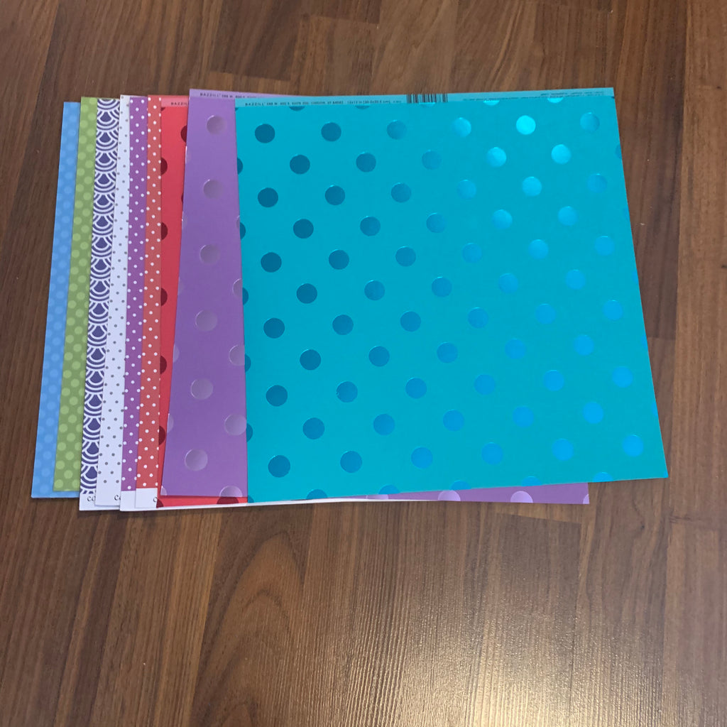 Patterened Scrapbooking Paper Pack 12x12 pages --Online Garage Sale--