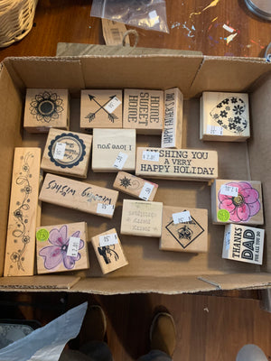 Lot of Rubber Stamps --Garage Sale--