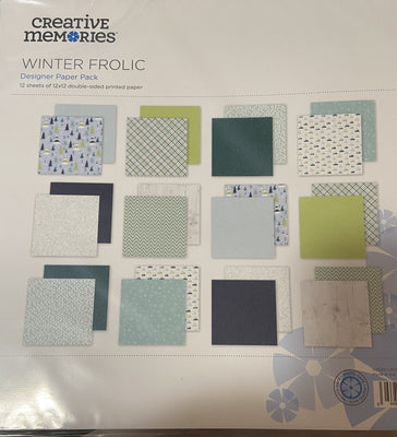 Creative Memories Winter Frolic Deisgner Paper Pack (12/pk)