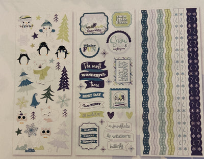 Creative Memories Winter Frolic Stickers (3/pk)