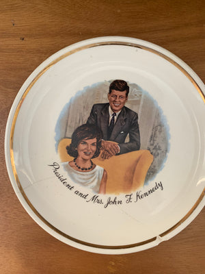 President John F. Kennedy and Jackie PLATE Vintage 9.25