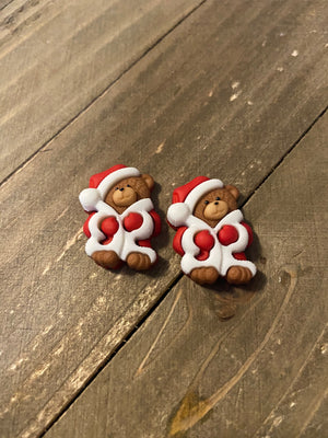 A Beary Merry Christmas Collection Post Earrings (3 Holiday Bears to choose)