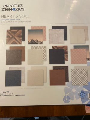 Creative Memories Heart & Soul Paper Pack (12/pk)
