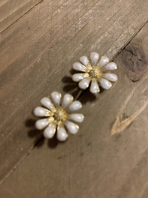 Gold Flower Post Earrings (3 types to choose from)