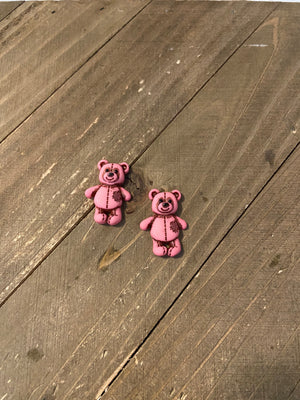 Valentine Bear Earrings--Stuffed with Love (5 to choose from)