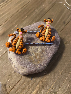 Tigger Hair clips (a pair)