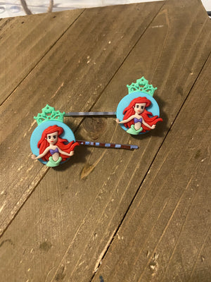 Disney Princess Little Mermaid Hair clips (a pair)