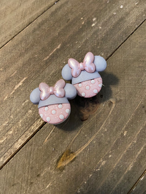 Baby Minnie Mouse Ears Post Earrings