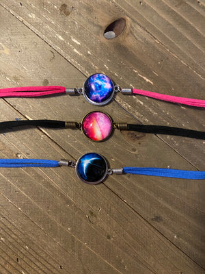 Starry Sky Leather Bracelet