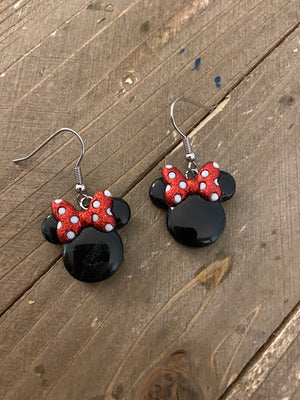 Minnie Mouse ears wire earrings