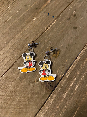 Mickey Mouse charm Ball Post Earring