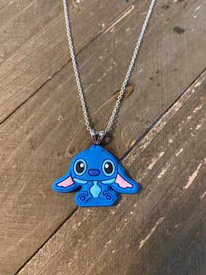 Stitch on a dainty Silver chain necklace