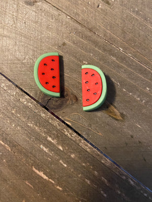 Fruit-Watermelon or Pineapple Post Earrings