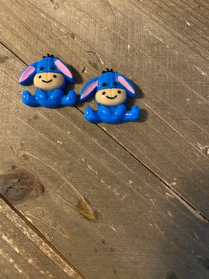 Eeyore Post Earrings