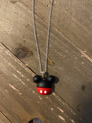 Dainty Silver chain with Mickey Mouse Ears Necklace