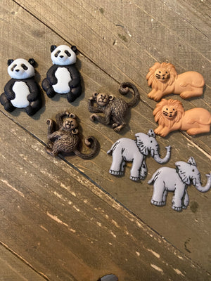 Wild Thing Collection Post Earrings (4 animals to choose from)