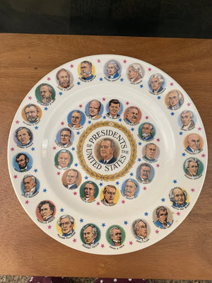 Presidents of the United States PLATE Vintage 10