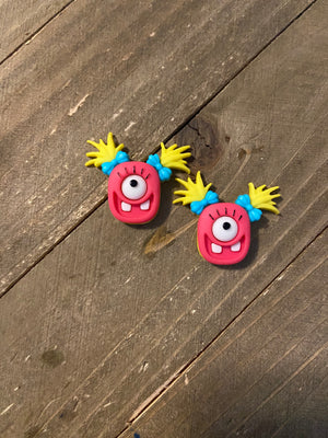 Mad for Monsters Earrings-(5 monsters to choose from)