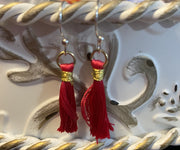 Tassel dangling Wire Earrings (6 colors to choose)