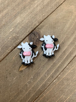 Moove it Cow Post Earrings  4 to choose from