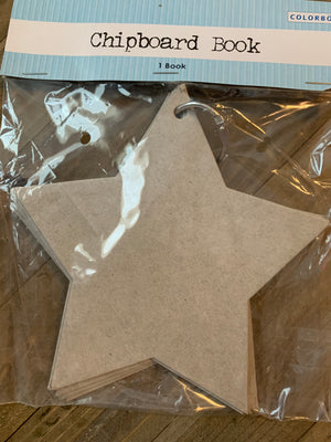Colorbok STAR Chipboard Book --Garage Sale--