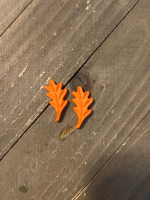 Autumn Leaves Post Earrings (orange and brown colors)