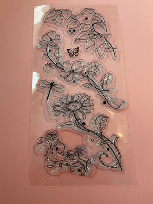MISC Flowers, flourishes, Vines Acrylic Stamps--Garage Sale--