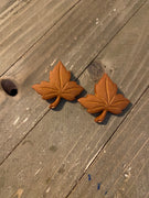 Fall Inspiration--Autumn Leaves Post Earrings (3 sizes and different colors)