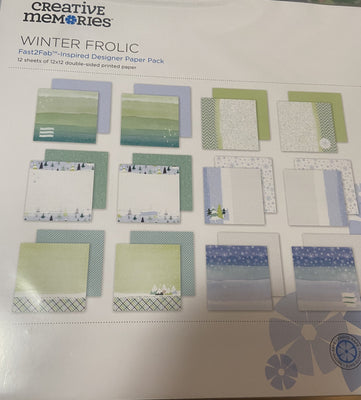 Creative Memories Winter Frolic Fast2Fab Inspired Paper Pack (12/pk)