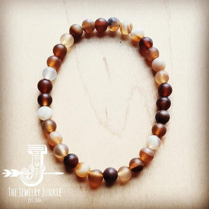 Bracelet Bar-Natural Agate Beads