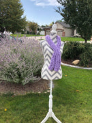 Warm soft and Pretty purple Knitted Scarf