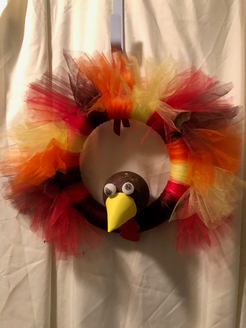 Tom the Turkey Tulle Wreath