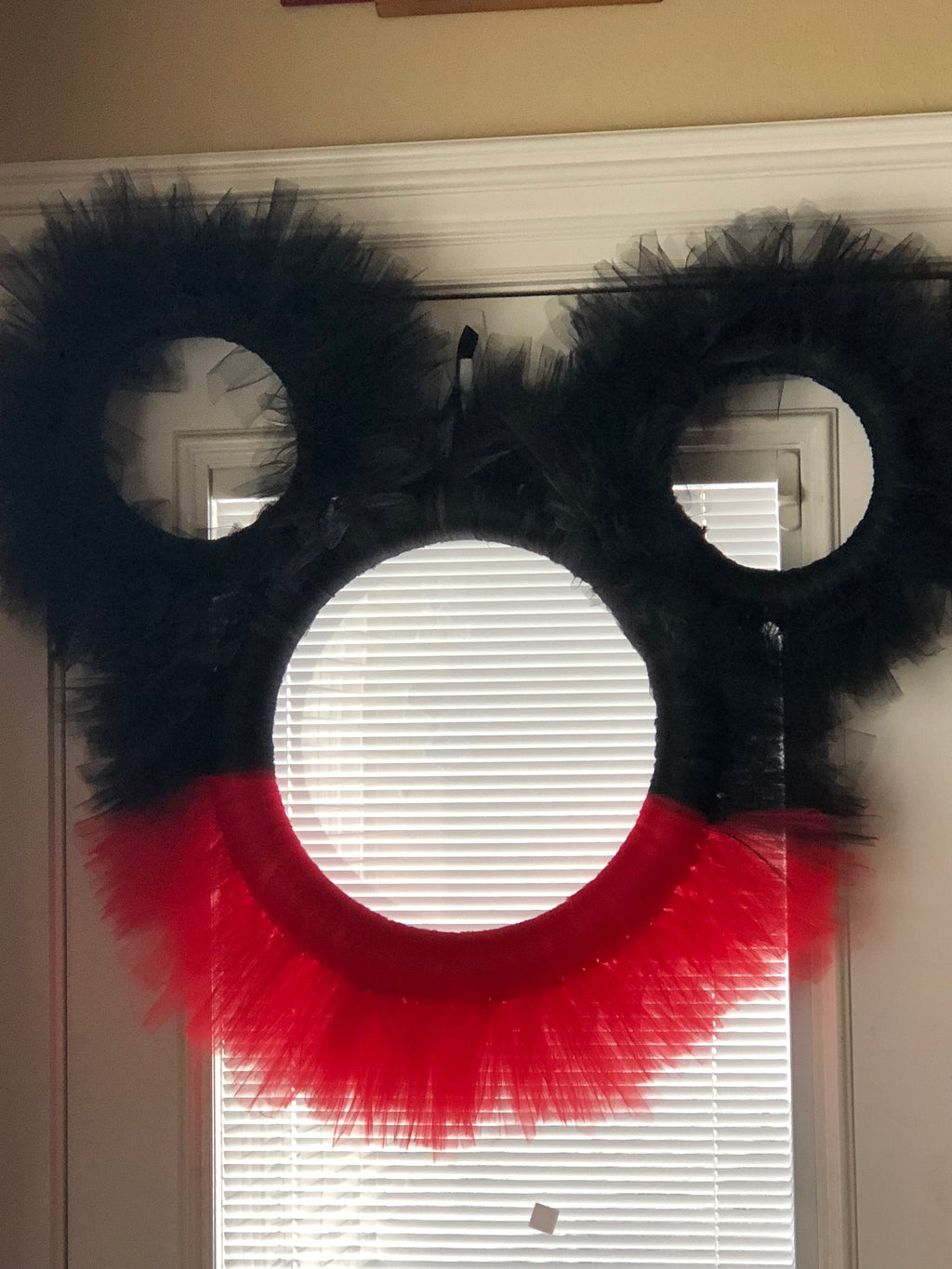 Mickey Mouse with Ears Tulle Wreath