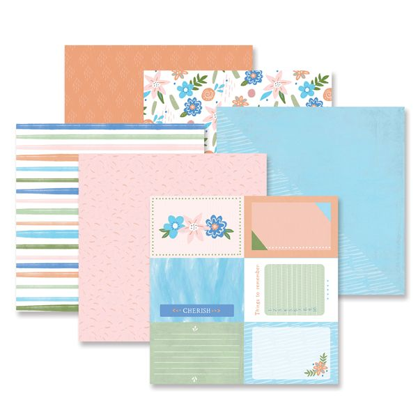 Creative Memories Cherish Paper Pack (6/pk)
