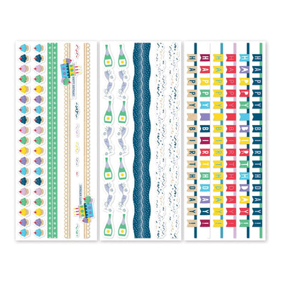 Creative Memories Party Time! Border Stickers (3/pk)