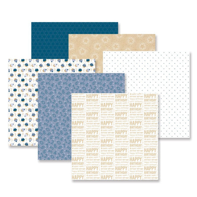 Creative Memories Party Time! Blue Paper Pack (12/pk)