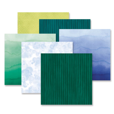 Creative Memories Emerald Gemstone Tone-on-Tone Paper Pack (12/pk)