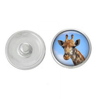 Animal - Giraffe Themed Snaps - Assorted Snaps - Coordinates with All of Our Base Pieces - Giraffe - Animals - Animal Snap Jewelry